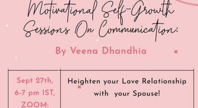 Workshop on: Heighten Your Love Relationship with Your Beloved