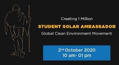 Student Solar Ambassadors Workshop 2020: Global Clean Environment Movement