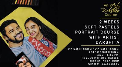 2 weeks Soft Pastels Portrait Course with Art Rickshaw