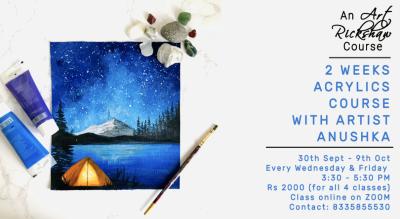 2 Weeks Acrylics Course with Art Rickshaw