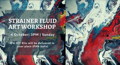 Strainer Fluid Art Workshop - IPA DIY Kit
