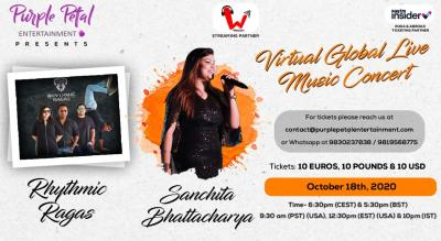 Virtual Music Concert with Rhythmic Ragas and Sanchita Bhattacharya (Abroad)