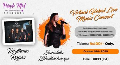 Virtual Music Concert with Rhythmic Ragas and Sanchita Bhattacharya