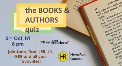 the BOOKS & AUTHORS quiz