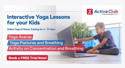 Online Yoga & Fitness Coaching for Kids at Home - Active Club Sport