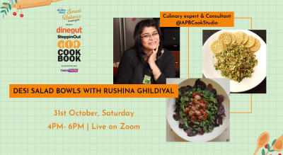 Emami Immunity Booster Oil presents The Dineout SteppinOut Cookbook with Rushina Ghildiyal