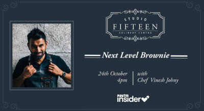 Studio Fifteen | Next Level Brownies with Chef Vinesh Johny