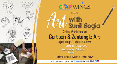 C.L.A.P WINGS PRESENTS ART WITH SUNIL GOGIA