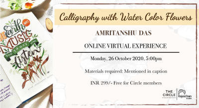 Calligraphy With Watercolor Flowers Workshop by Rajasthan Studio