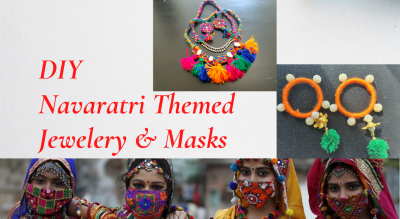 Learn how to make Navaratri themed Jewelry & Masks