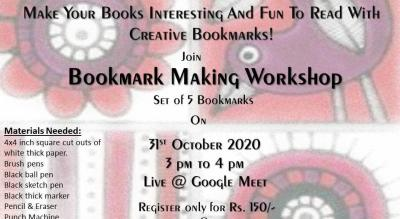 Bookmark Making Workshop