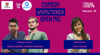 Comedy Unfiltered Open Mic ft. Rohan Gujral and Srijan Kaushik