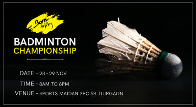Born To Play Badminton CHAMPIONSHIP