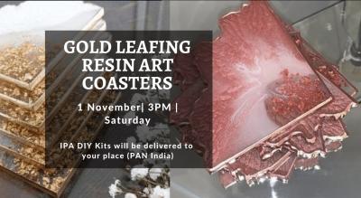 Gold Leafing Resin Art Coaster - IPA Diy Kit
