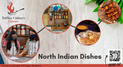 North indian dishes with Iishika