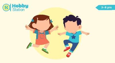 Hobbystation Bollywood Dance Workshop for Kids(3 - 6 Years)