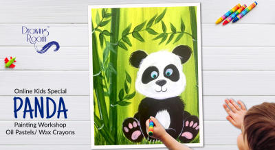 Online Kids Special Panda Painting Workshop by Drawing Room
