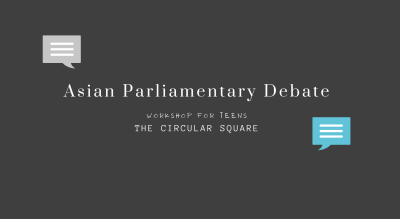 Asian Parliamentary Debate workshop