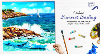 Online Summer Sailing Painting Workshop by Drawing Room