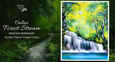 Online Forest Stream Painting Workshop by Drawing Room