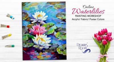 Online Waterlilies Painting Workshop by Drawing Room