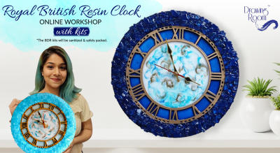 Royal British Resin Clock Online Workshop with Home Delivered Kits by Drawing Room