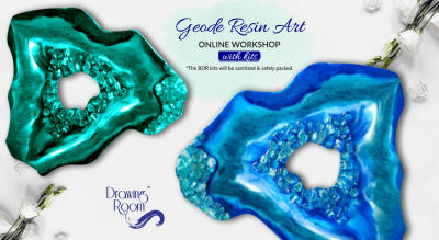 Geode Resin Art Online Workshop with Home Delivered Kits by Drawing Room