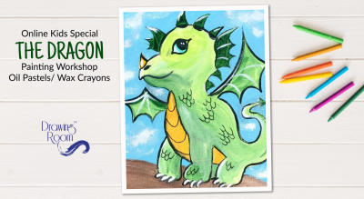 Online Kids Special The Dragon Painting Workshop by Drawing Room