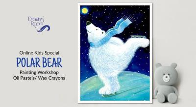 Online Kids Special Polar Bear Painting Workshop by Drawing Room