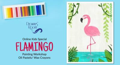 Online Kids Special Flamingo Painting Workshop by Drawing Room