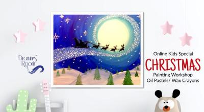Online Kids Special Christmas Painting Workshop by Drawing Room