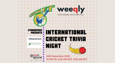 International Cricket Trivia Night by Gyaanspace