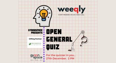 Open General Quiz by Gyaanspace (Entry free)