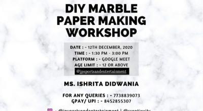 DIY Marble Paper Workshop by Ishrita Didwania