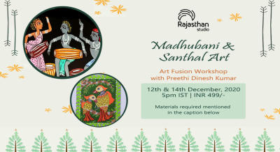 Madhubani & Santhal Art Workshop by Rajasthan Studio