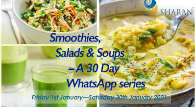 Smoothies, Salads & Soups – A 30 Day WhatsApp series