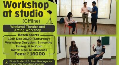 Weekend Theatre and Acting Workshop (Offline)