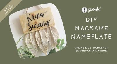 DIY Macrame Nameplate [Online Live Workshop - Material Kit Available]