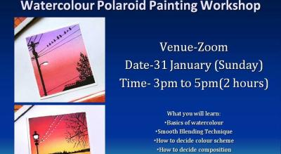 Watercolour Polaroid Painting Workshop.