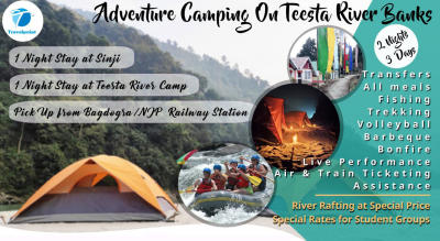 Adventure Camping on Teesta River Banks