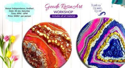 Geode Resin Art Workshop by Bombay Drawing Room
