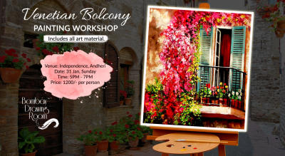 Venetian Balcony Painting Workshop by Bombay Drawing Room
