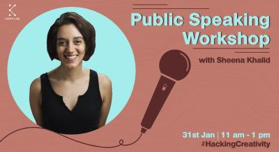 Public Speaking Workshop with Sheena Khalid | Kommune