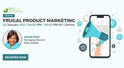 FREE! Webinar on Frugal Product Marketing