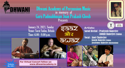 Saaz Aur Awaz - An Indian Classical Music And Percussion Concert (Live Performance)