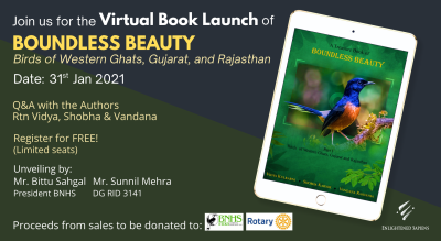 Virtual Book Launch of Boundless Beauty – Birds of Western Ghats, Gujarat and Rajasthan