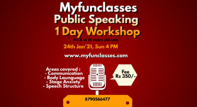 Myfunclasses Public Speaking workshop for kids