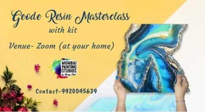 Geode Resin Masterclass with Mumbai Painting Studios