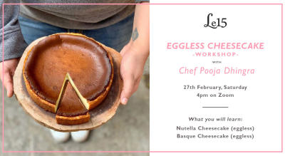 Eggless Cheesecake Workshop with Chef Pooja Dhingra