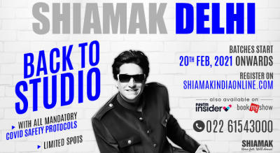 SHIAMAK Back to Studio - Dance Classes in Delhi
